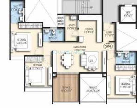 goel ganga acropolis apartment 3bhk 1591sqft 1