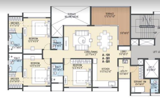 goel ganga acropolis apartment 3bhk 1695sqft61
