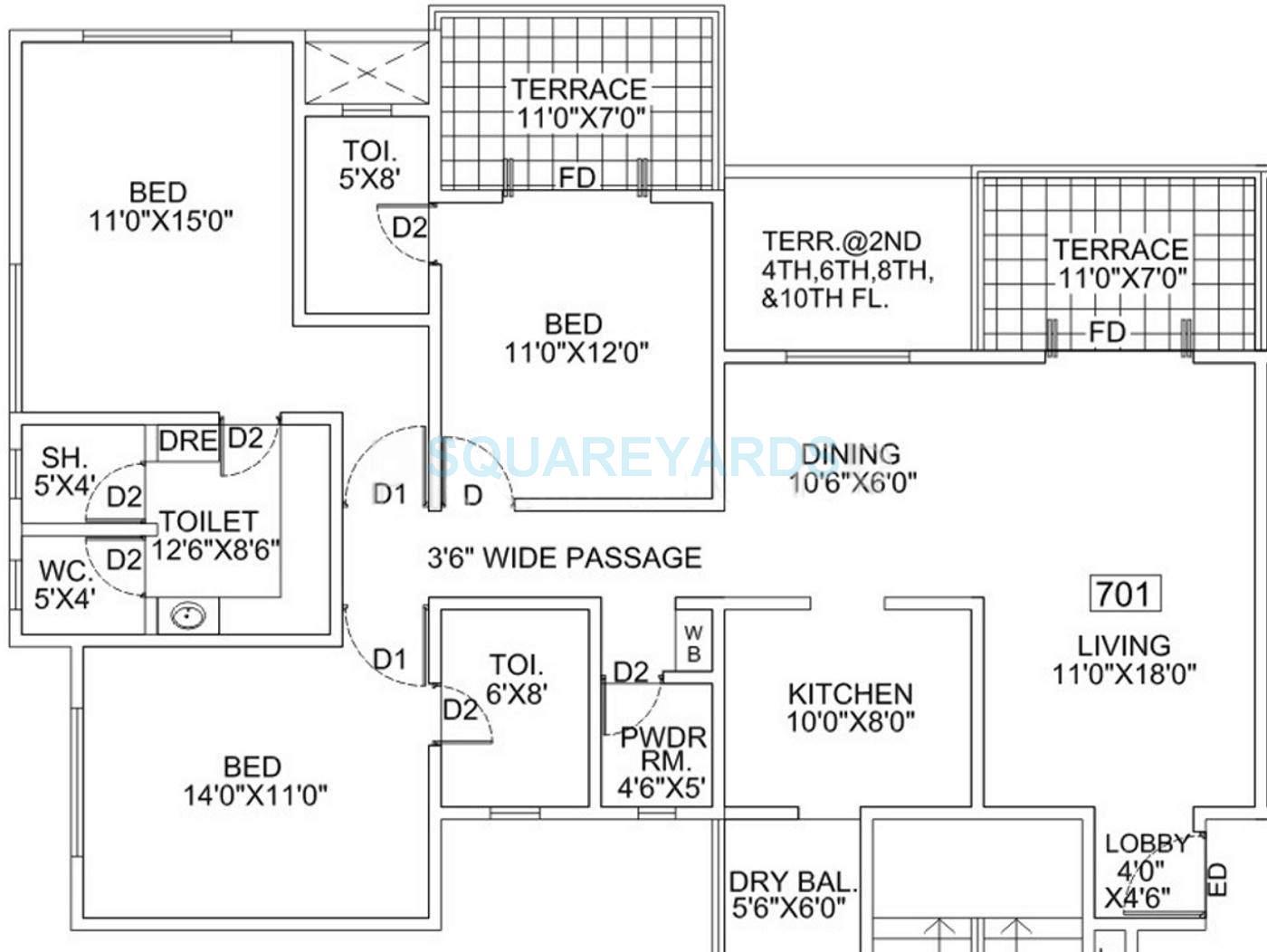 goel ganga group bhagyoday apartment 3bhk 2040sqft 10577