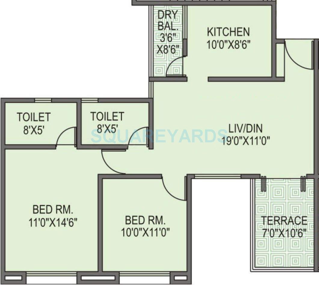 goel ganga group estoria apartment 2bhk 960sqft 10388
