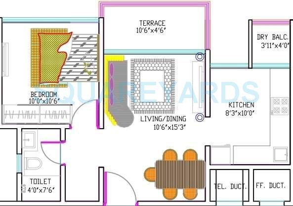 goel ganga group fairmont apartment 1bhk 625sqft 10054