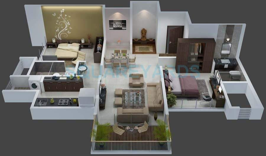 goel ganga group florentina apartment 2bhk 1130sqft 10646