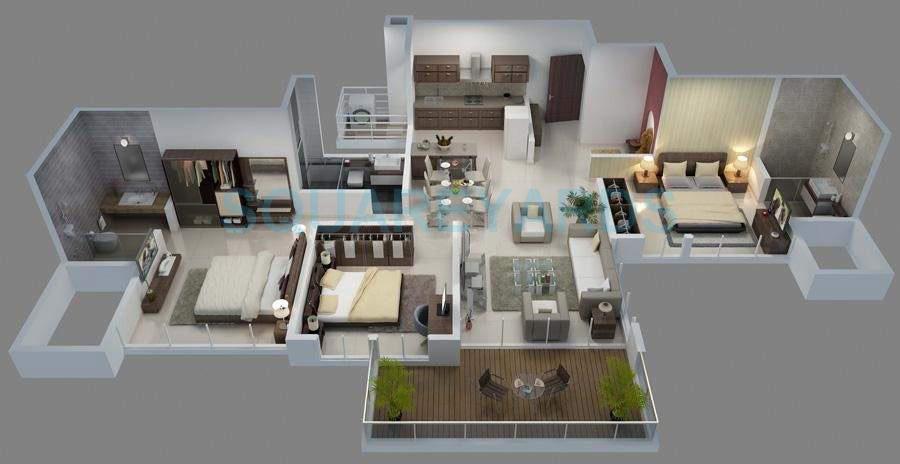 goel ganga group florentina apartment 3bhk 1475sqft 10647