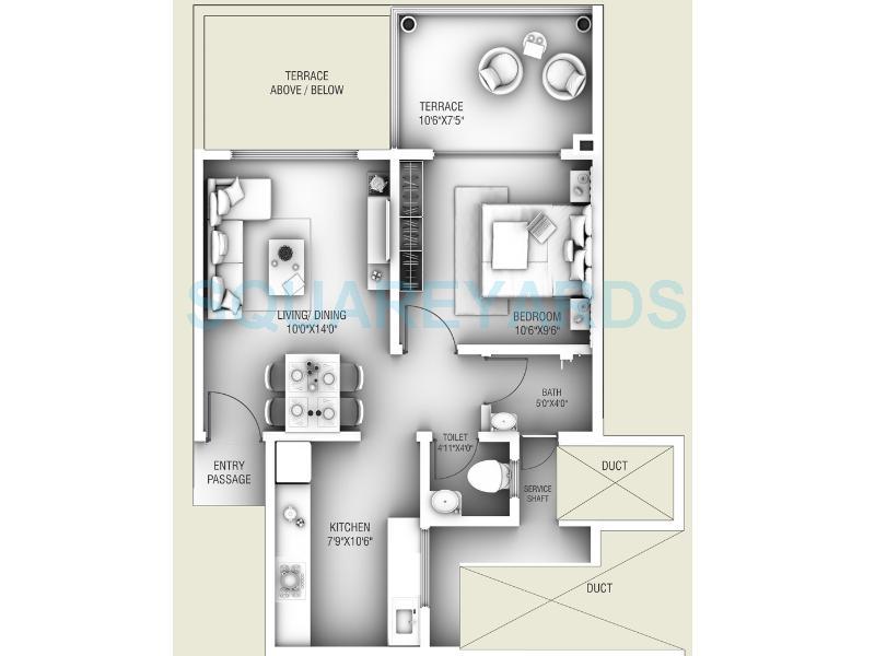 goel ganga group legend apartment 1bhk 689sqft1