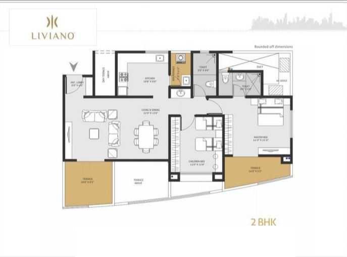 goel ganga liviano apartment 2 bhk 770sqft 20215514145523
