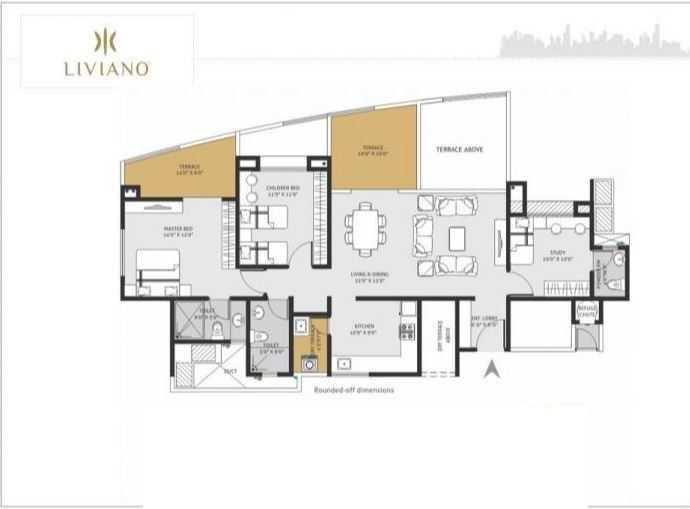 goel ganga liviano apartment 2 bhk 930sqft 20215514145536