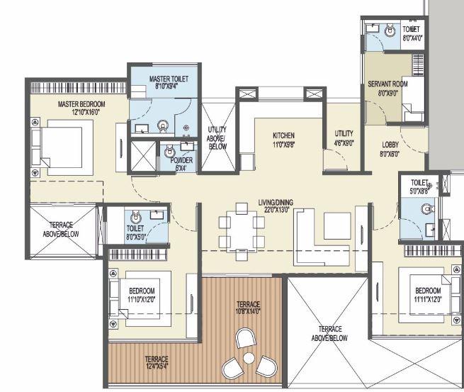 goel ganga platino apartment 3bhk 1598sqft51