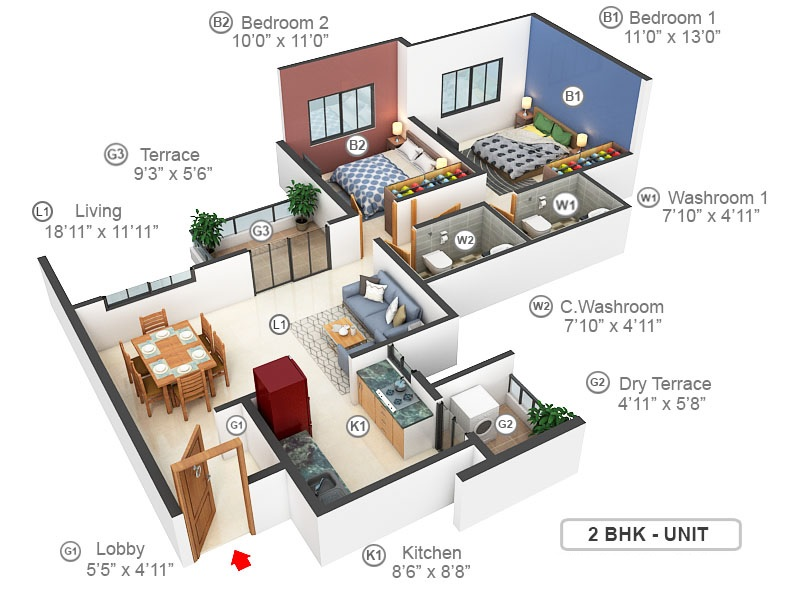 goel ganga serio apartment 2 bhk 649sqft 20215803175830