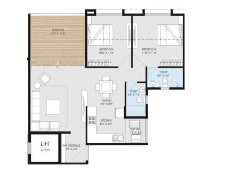 goel ganga utopia apartment 2 bhk 767sqft 20212801172857