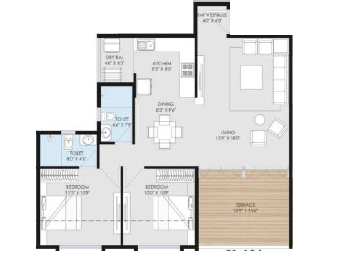 goel ganga utopia apartment 2 bhk 821sqft 20212901172910