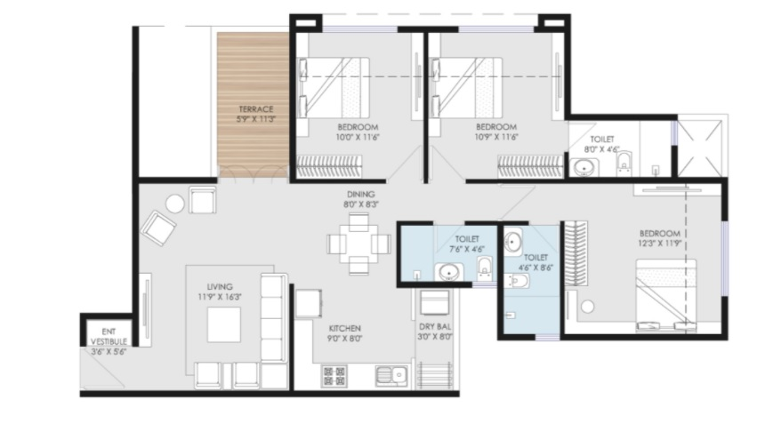 goel ganga utopia apartment 3 bhk 1018sqft 20213503183539