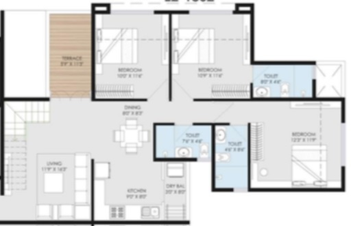 goel ganga utopia apartment 3 bhk 983sqft 20213503183553