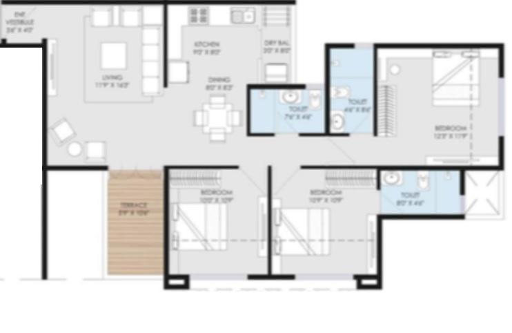 goel ganga utopia apartment 3 bhk 989sqft 20213503183546