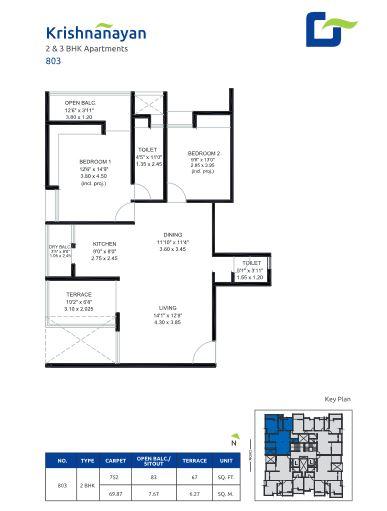 gokhale krishnanayan apartment 2bhk 752sqft 1
