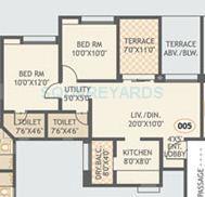gurdian hill shire apartment 2bhk 932sqft 1