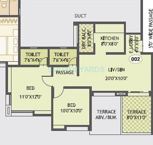 gurdian hill shire apartment 2bhk 985sqft 1