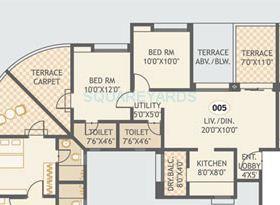 gurdian hill shire apartment 3bhk 1053sqft 1