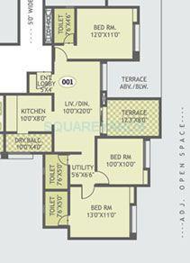 gurdian hill shire apartment 3bhk 1285sqft 1