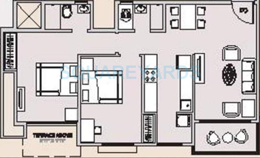 hubtown countrywoods apartment 2bhk 972sqft 10591