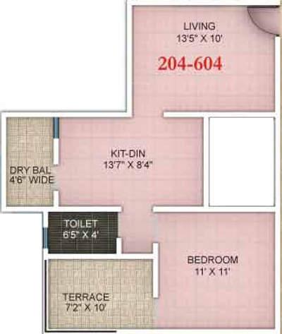 icon viva apartment 1bhk 520sqft 1