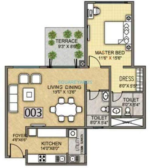 k raheja vistas premiere apartment 1bhk 720sqft 10799