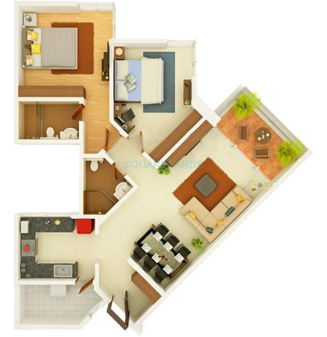 2 Bhk 1235 Sq Ft Apartment For Sale In Kasturi Eon Homes At Rs 6150 Sq Ft Pune