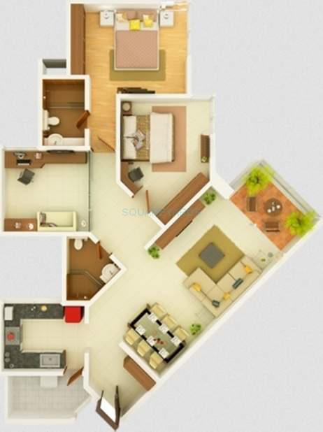 kasturi eon homes apartment 3bhk 1465sqft 10020