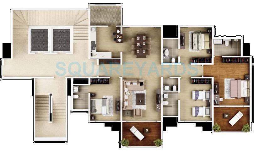 kasturi epitome apartment 4bhk 2390sqft 9925