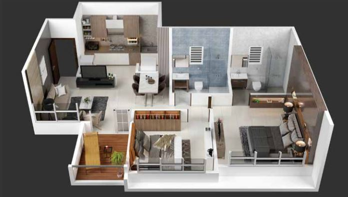 kohinoor coral phase 3 apartment 2bhk 710sqft31