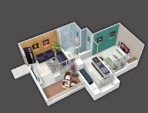 kohinoor iris park apartment 1 bhk 317sqft 20211218171224