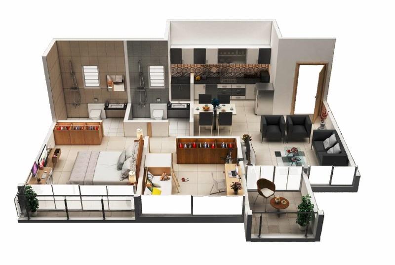 kohinoor tinsel county apartment 2 bhk 498sqft 20214706164722