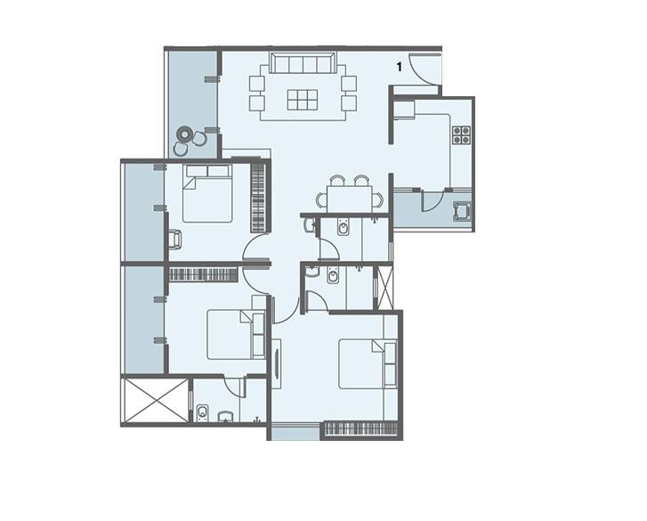 kohinoor zen estate apartment 3 bhk 1068sqft 20215801165840