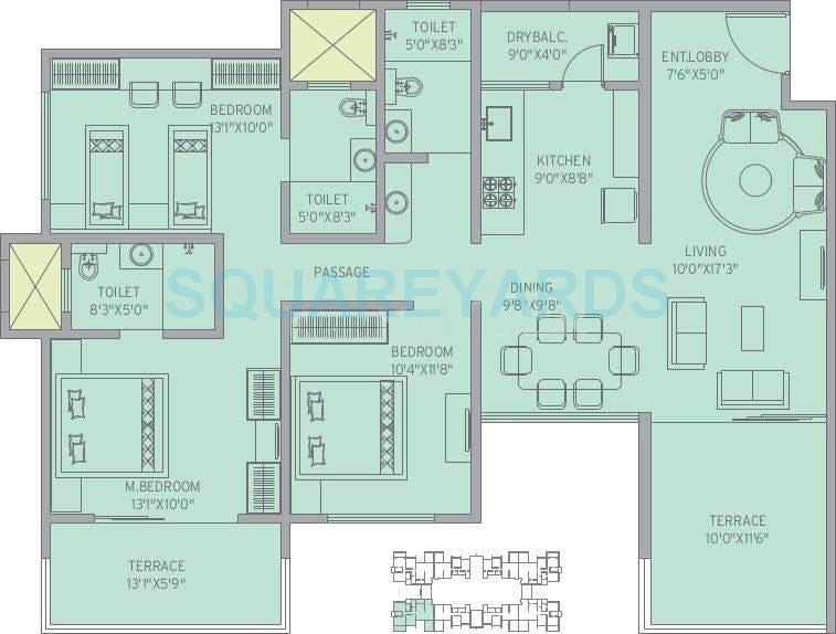 kolte patil 7 th avenue apartment 3bhk 1580sqft 10722