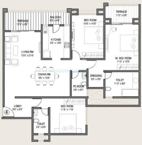 kolte patil allura apartment 3bhk 1820sqft 10234