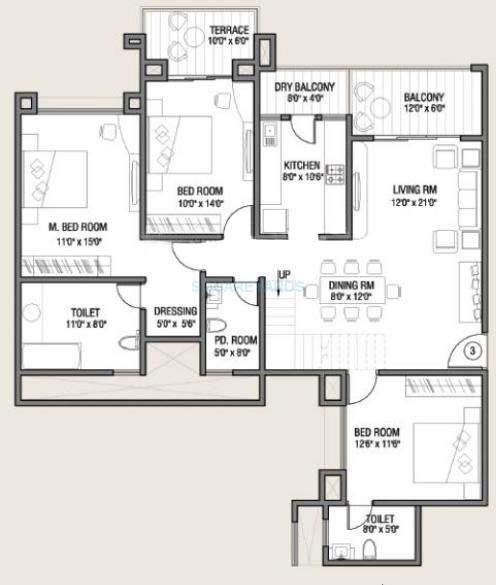 kolte patil allura apartment 3bhk 2490sqft 10237