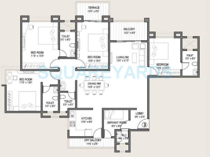 kolte patil allura apartment 4bhk 2050sqft 10239