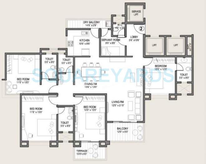 kolte patil allura apartment 4bhk 2095sqft 10240