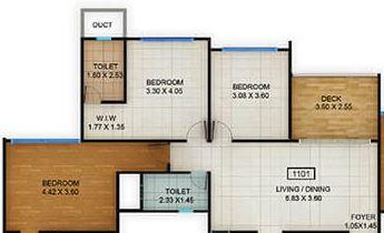 kolte patil centria apartment 3bhk 1062sqft11