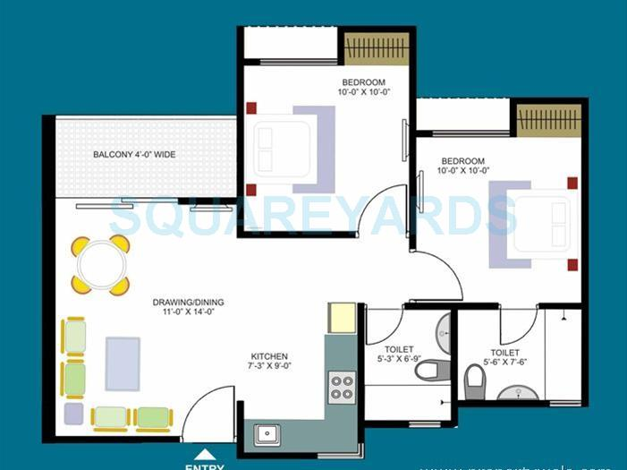 kolte patil downtown apartment 2bhk 1168sqft1