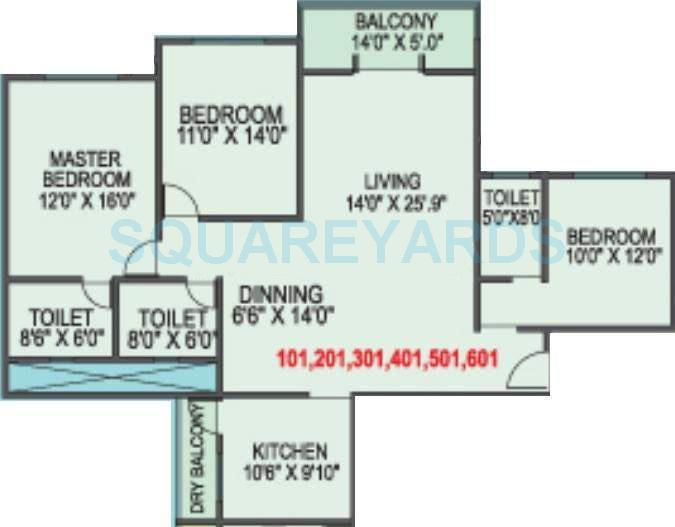 kolte patil elburz hills dales apartment 3bhk 1675sqft 11279
