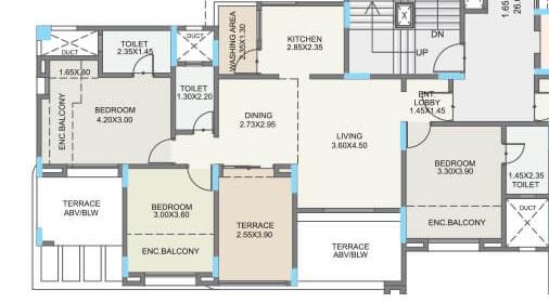 kolte patil green olive apartment 3 bhk 1079sqft 20213610173615