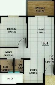 kolte patil ivy estate nia apartment 1bhk 377sqft 1