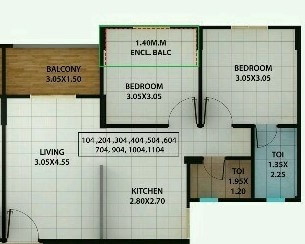 kolte patil ivy estate nia apartment 2bhk 520sqft 1