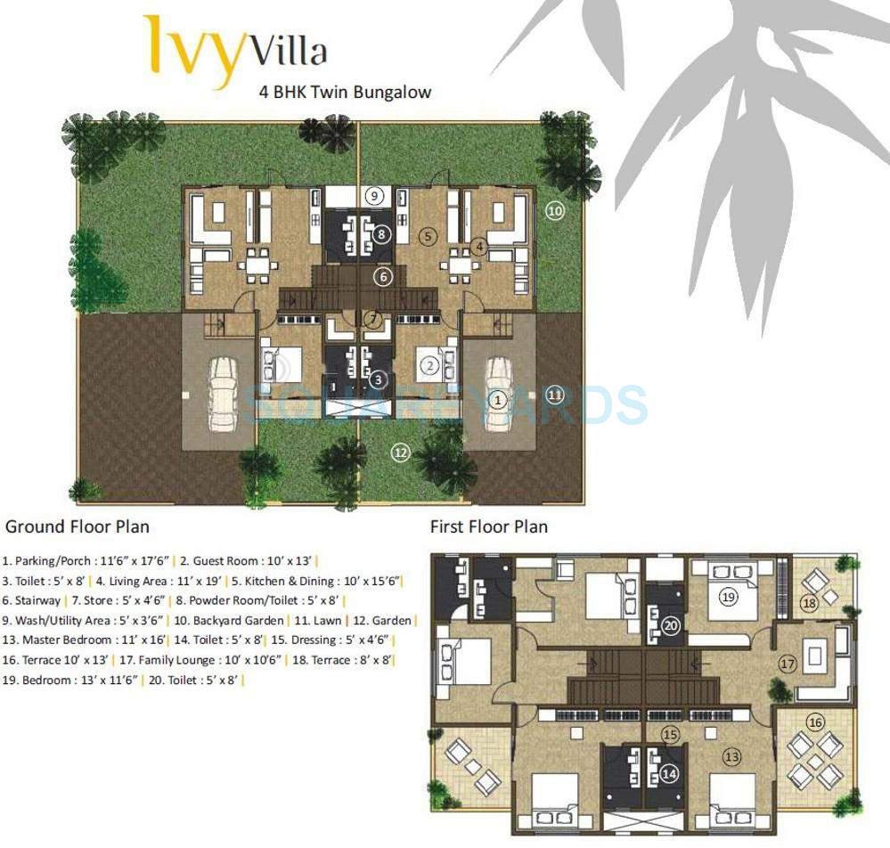 kolte patil ivy villa villa 4bhk 3200sqft 11034