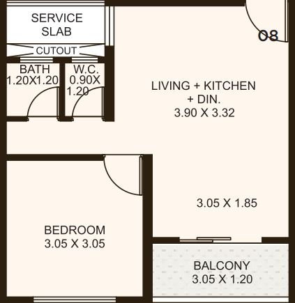 kolte patil life republic apartment 1bhk 410sqft 321