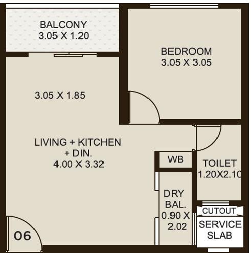 kolte patil life republic apartment 1bhk 430sqft 1