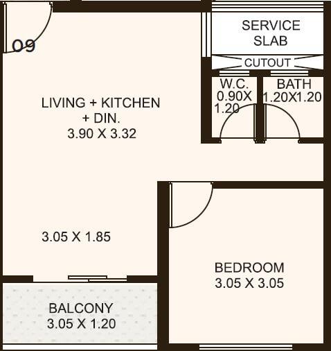 kolte patil life republic oro avenue apartment 1bhk 370sqft 1