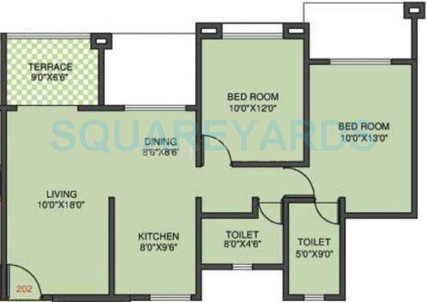 kolte patil margosa heights apartment 2bhk 1015sqft 11702