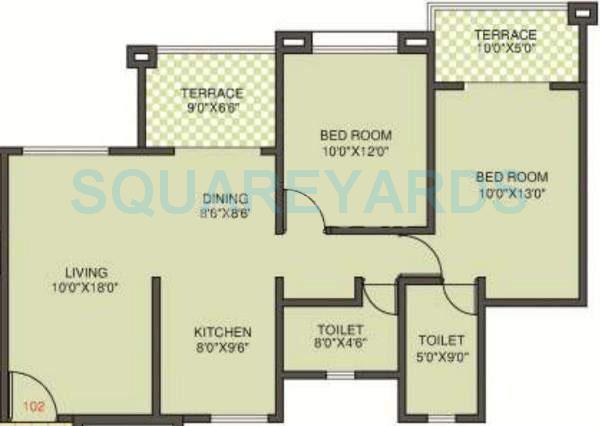 kolte patil margosa heights apartment 2bhk 1085sqft 11704