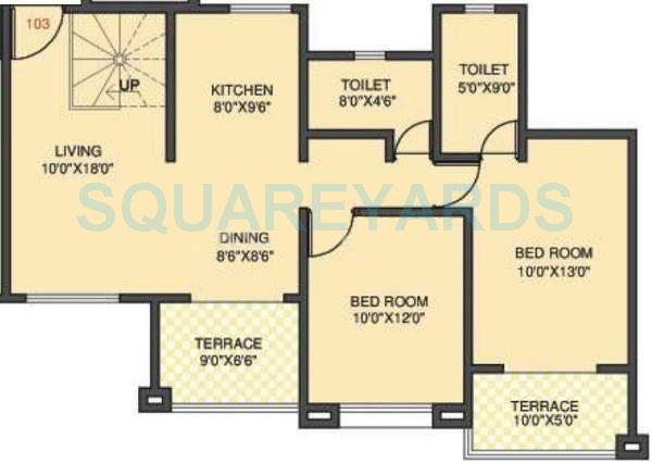 kolte patil margosa heights apartment 2bhk 1185sqft 11705